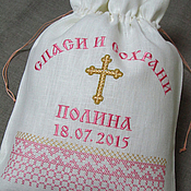 Работы для детей, handmade. Livemaster - original item Personalized pouch. art. 0516. Handmade.