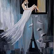 Картины и панно ручной работы. Ярмарка Мастеров - ручная работа картина маслом  70Х50,Поэзия Парижа. Handmade.