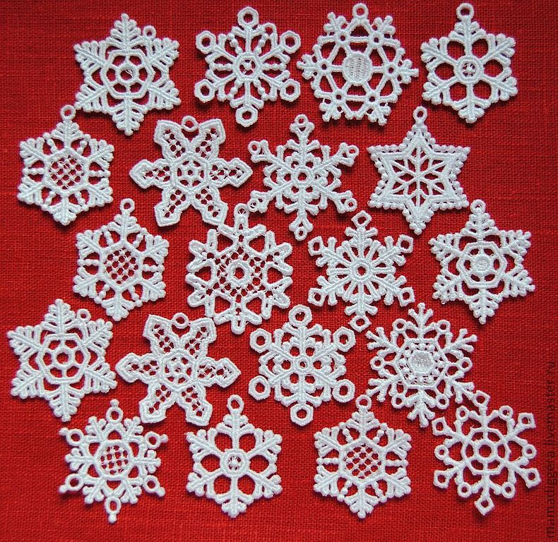 Line snowflakes lace 'Small' 20 pieces, Lace, Moscow,  Фото №1