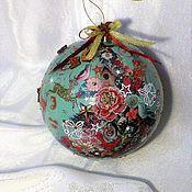 """Подарки к праздникам ручной работы. Ярмарка Мастеров - ручная работа """"Рождественское изобилие""""- шар 15 см. Handmade."""