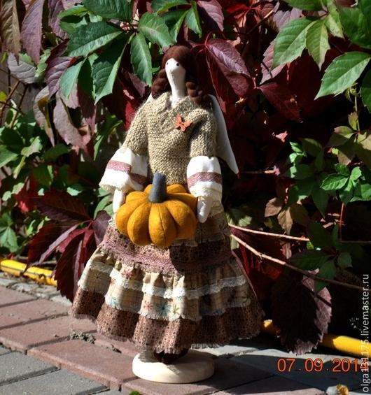 Куклы Тильды ручной работы. Ярмарка Мастеров - ручная работа. Купить Фея Осени. Handmade. Коричневый, интерьерная кукла
