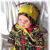 """Работы для детей, ручной работы. Ярмарка Мастеров - ручная работа Комплект одежды для новорождённого """"Хохломуся"""". Handmade."""