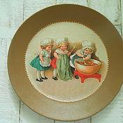 Тарелки ручной работы. Ярмарка Мастеров - ручная работа Декоративная тарелка Поварята. Handmade.