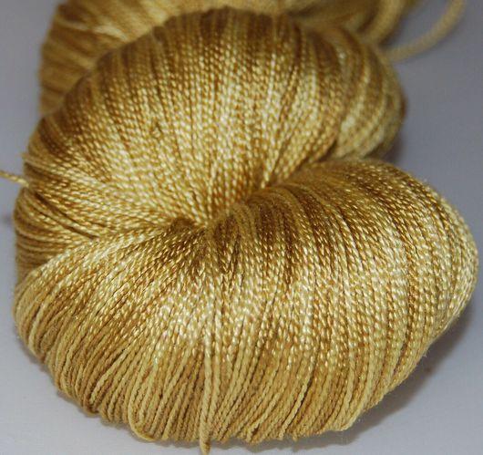 Вязание ручной работы. Ярмарка Мастеров - ручная работа. Купить Пряжа 100%шелк ручной окраски Gold of Aztek. Handmade.