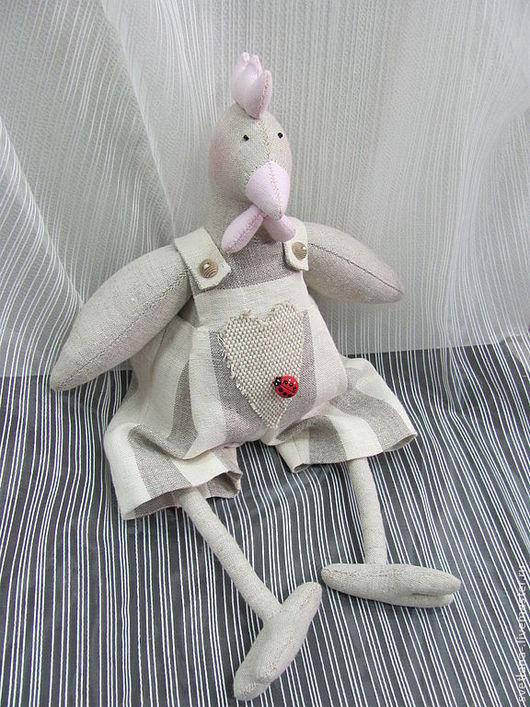 Куклы Тильды ручной работы. Ярмарка Мастеров - ручная работа. Купить Курица Клара интерьерная кукла в стиле Tilda из натуральных тканей. Handmade.