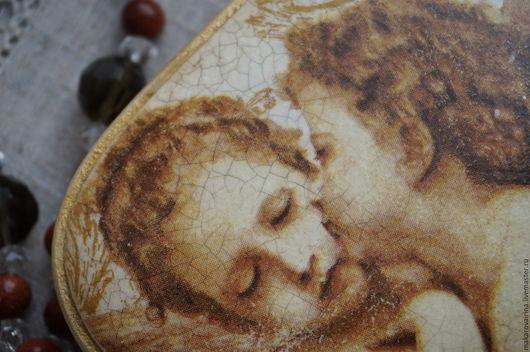 """Подарки для влюбленных ручной работы. Ярмарка Мастеров - ручная работа. Купить Шкатулка-валентинка  """"Ангелы"""". Handmade. Бежевый, мдф"""