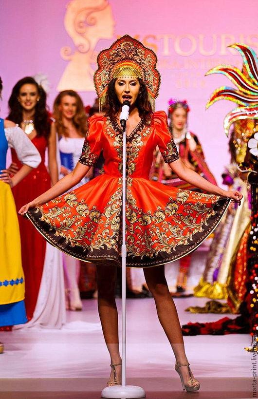 Русская красавица, русский костюм, танцевальный костюм, русский народный костюм Russian national costume Russian folk dance dress