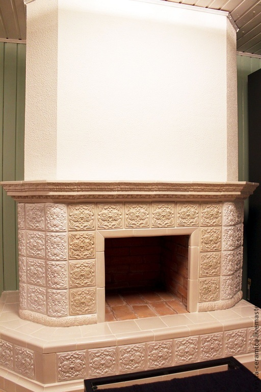 Tile 'Cream' fireplace, Fireplaces, Moscow,  Фото №1