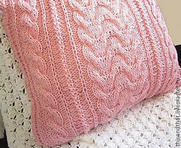 Case/Pillow cover for sofa cushion Pink Relaxed. Pastel, Pillow, Tolyatti,  Фото №1