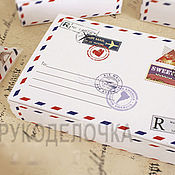 Материалы для творчества ручной работы. Ярмарка Мастеров - ручная работа Коробочка Письмо из Парижа. Handmade.