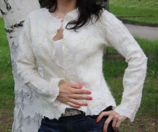 """Пиджаки, жакеты ручной работы. Ярмарка Мастеров - ручная работа. Купить Жакет """" Белый Ажур"""". Handmade. Белый"""