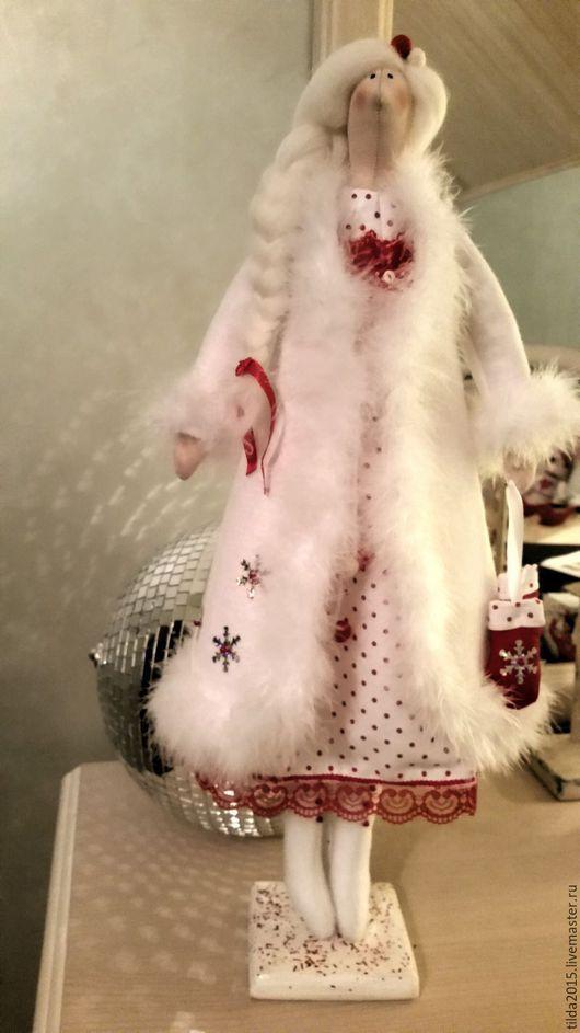 Куклы Тильды ручной работы. Ярмарка Мастеров - ручная работа. Купить Снегурочка тильда. Handmade. Комбинированный, снегурочка тильда, хлопок