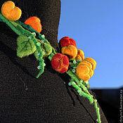 """Украшения ручной работы. Ярмарка Мастеров - ручная работа Валяное колье """" Ах это лето!"""". Handmade."""