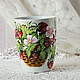 Mug with painted 'strawberry basket', Mugs and cups, ,  Фото №1