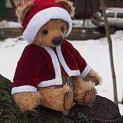 Куклы и игрушки ручной работы. Ярмарка Мастеров - ручная работа Мишка тедди новогодний Клаус. Handmade.