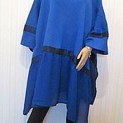 Одежда handmade. Livemaster - original item Tunic wool blue. Handmade.
