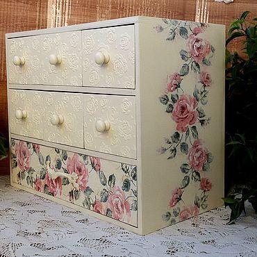 Для дома и интерьера ручной работы. Ярмарка Мастеров - ручная работа Мини-комоды: Розовый сад. Handmade.
