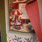 """Для дома и интерьера ручной работы. Ярмарка Мастеров - ручная работа Детское лоскутное одеяло """"Посиделки в кафе"""". Handmade."""