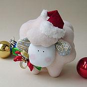 Куклы и игрушки ручной работы. Ярмарка Мастеров - ручная работа Барашек Санта. Handmade.