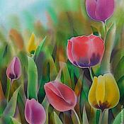 Картины и панно ручной работы. Ярмарка Мастеров - ручная работа Яркие тюльпаны. Handmade.