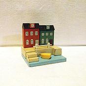 Для дома и интерьера ручной работы. Ярмарка Мастеров - ручная работа Миниатюра, домики, городок у моря, декор. Handmade.