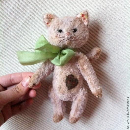 Мишки Тедди ручной работы. Ярмарка Мастеров - ручная работа. Купить Тедди кошка Манюня. Handmade. Тедди, антик