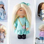 Куклы и игрушки handmade. Livemaster - original item Doll in a turquoise dress Textile doll Interior doll. Handmade.