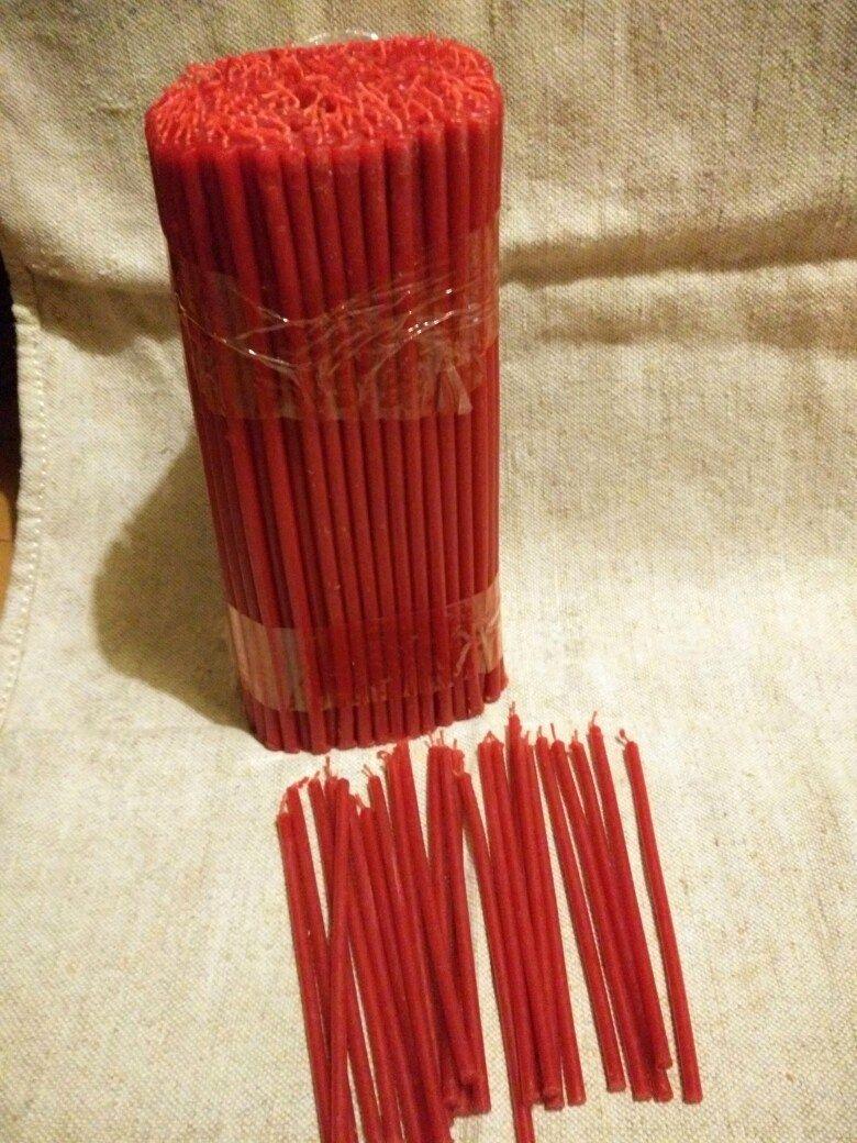 Свеча восковая красная . Свечи красные, Эзотерические аксессуары, Куйбышево, Фото №1
