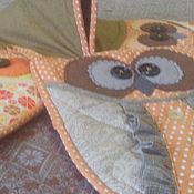 """Для дома и интерьера ручной работы. Ярмарка Мастеров - ручная работа Набор прихваток """"Три совы-2"""". Handmade."""