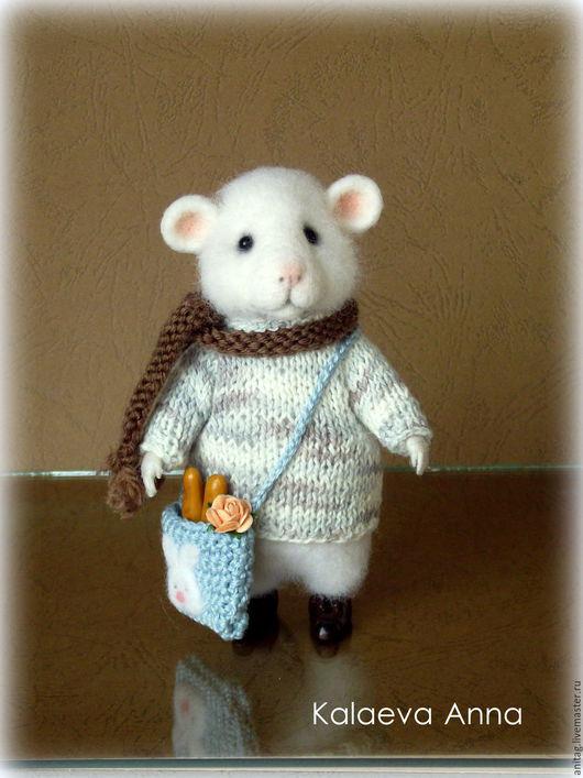 """Игрушки животные, ручной работы. Ярмарка Мастеров - ручная работа. Купить Мышонок """"Утро в Париже"""". Handmade. Комбинированный, подарок"""