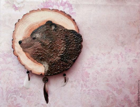 Животные ручной работы. Ярмарка Мастеров - ручная работа. Купить Медведь. Тотемная картина.. Handmade. Коричневый, медведи, тотемное животное