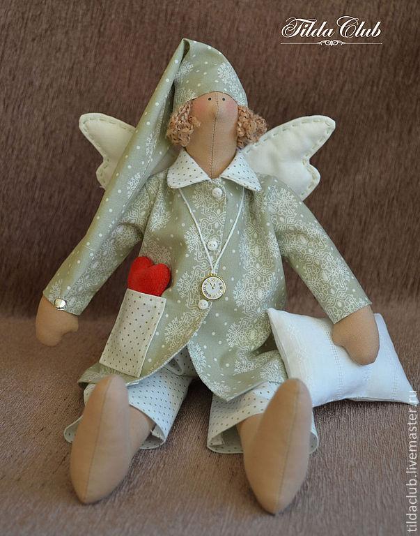 Куклы Тильды ручной работы. Ярмарка Мастеров - ручная работа. Купить Сонный ангел Тильда. Handmade. Ангел, ангел тильда