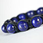 Украшения handmade. Livemaster - original item Shamballa bracelet with lapis stone. Handmade.
