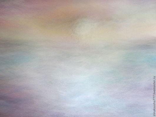 """Пейзаж ручной работы. Ярмарка Мастеров - ручная работа. Купить Картина-шерстью """"Восход"""".. Handmade. Картина, оригинальный подарок"""