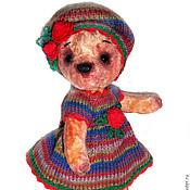 """Куклы и игрушки ручной работы. Ярмарка Мастеров - ручная работа """"Веснушка"""" 21см Мишка из винтажного плюша. Handmade."""