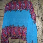 Винтаж handmade. Livemaster - original item Shingora stole,100% wool,India. Handmade.