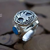 Украшения handmade. Livemaster - original item The ring with the World tree Yggdrasil. Handmade.