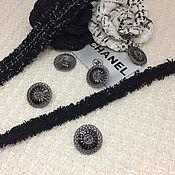 Пуговицы ручной работы. Ярмарка Мастеров - ручная работа ПРOДАНO Пуговица костюмная реплика Chanel. Handmade.