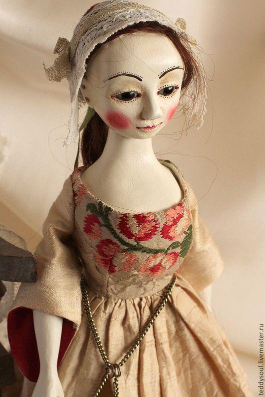 Коллекционные куклы ручной работы. Ярмарка Мастеров - ручная работа. Купить Мэрилин I, кукла из дерева времен Королевы Анны. Handmade.