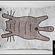 Текстиль, ковры ручной работы. Ярмарка Мастеров - ручная работа. Купить Котейкина подушка диванная из 100%.  Авторская работа.. Handmade.