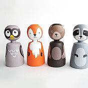 Куклы и игрушки ручной работы. Ярмарка Мастеров - ручная работа Лесные жители. Handmade.