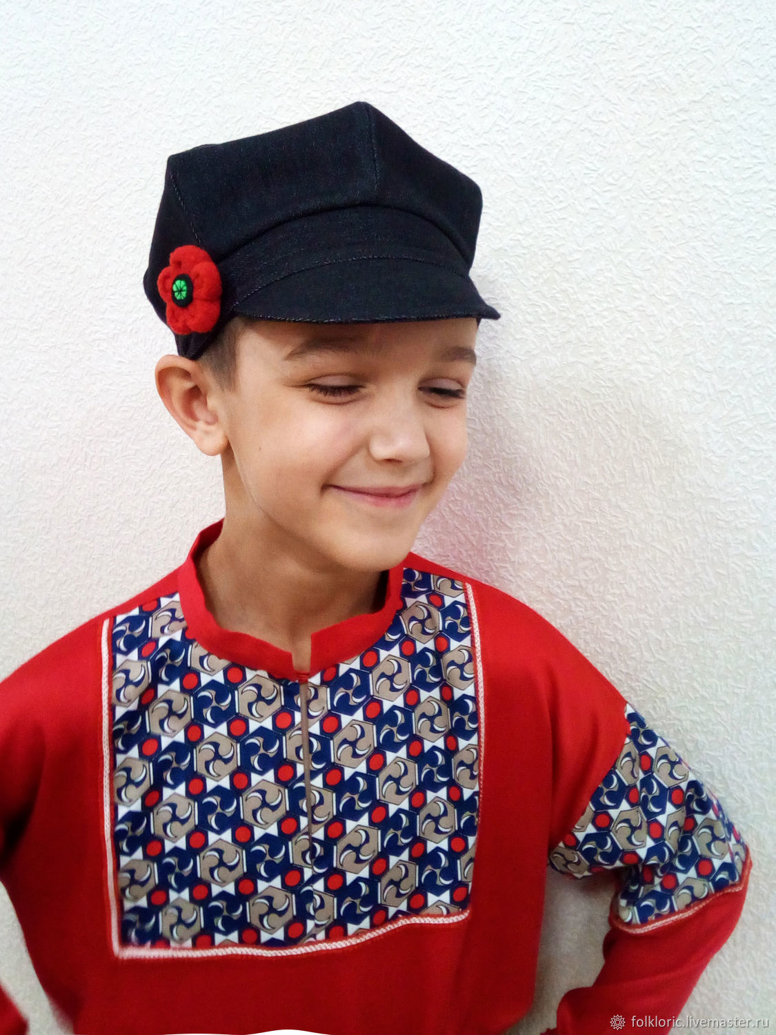 Children s Dance Costumes handmade. Cap Russian national men s headwear.  FOLKLORIC. 85f684ab4df