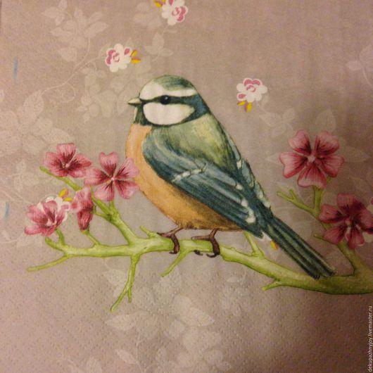 Птички-синички - 2 вида - салфетка для декупажа Декупажная радость