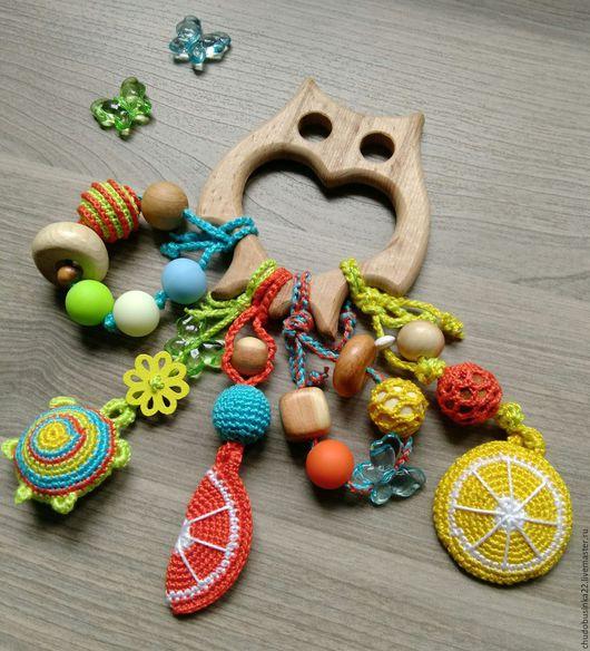 Развивающие игрушки ручной работы. Ярмарка Мастеров - ручная работа. Купить Грызунок можжевеловый. Handmade. Можжевеловый грызунок, прорезыватель, комбинированный
