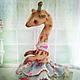 """Мишки Тедди ручной работы. Ярмарка Мастеров - ручная работа. Купить Жирафа Ниночка  """"В мечтах о балете....."""". Handmade."""