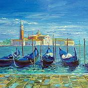 Картины и панно handmade. Livemaster - original item Oil painting on canvas. The pier in Venice.. Handmade.