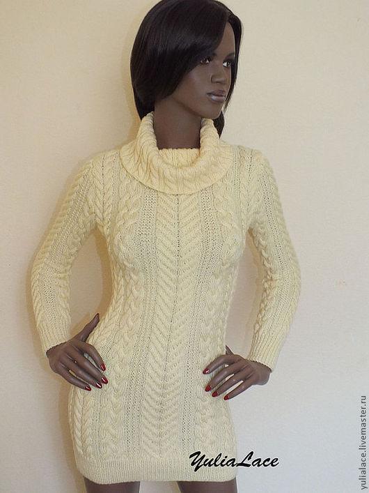 Кофты и свитера ручной работы. Ярмарка Мастеров - ручная работа. Купить Вязаный свитер. Handmade. Бежевый, свитер вязаный