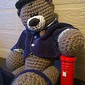 Куклы и игрушки ручной работы. Ярмарка Мастеров - ручная работа Мишка в шляпе. Handmade.