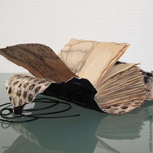 Коллекционная авторская книга для записей ручной работы SOULBOOK «BLACK BUTTERFLY».  www.cvett.com