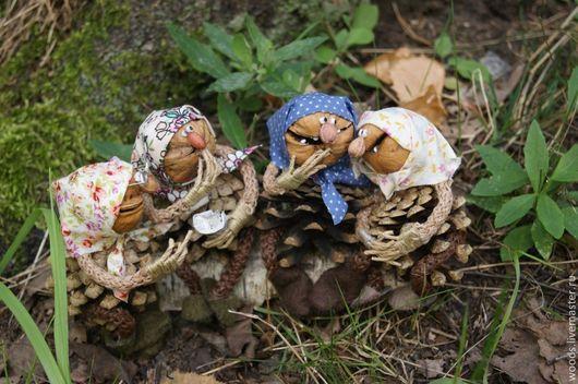 Сказочные персонажи ручной работы. Ярмарка Мастеров - ручная работа. Купить Из жизни лесных бабок. Handmade. Коричневый, лес